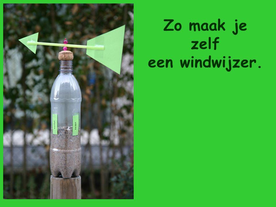 Zo maak je zelf een windwijzer.