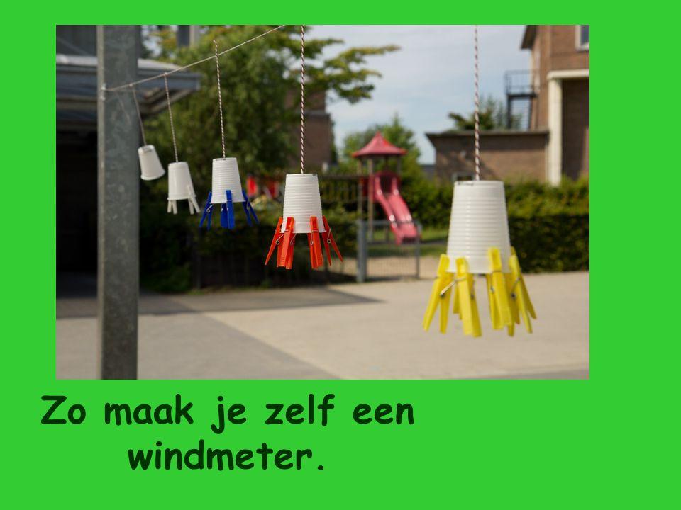 Zo maak je zelf een windmeter.