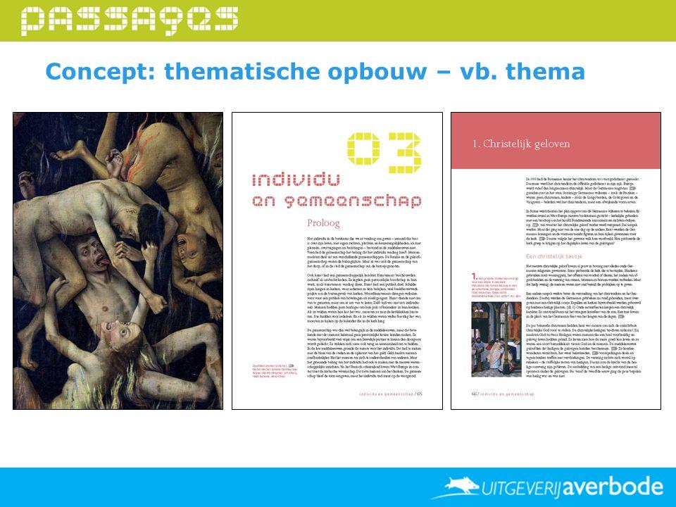 Concept: thematische opbouw – vb. thema