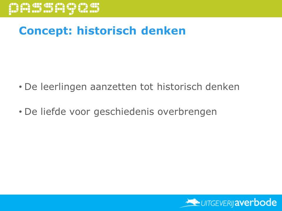 Concept: historisch denken