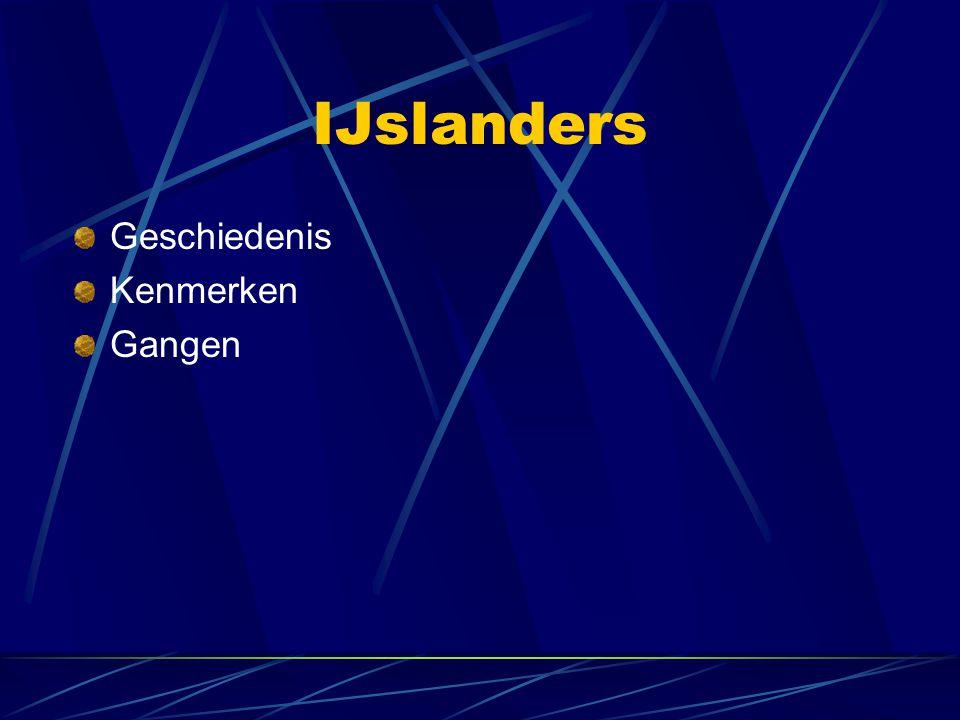 IJslanders Geschiedenis Kenmerken Gangen