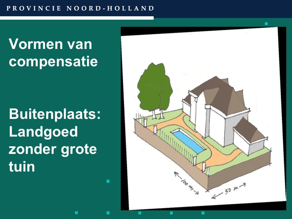 Vormen van compensatie Buitenplaats: Landgoed zonder grote tuin