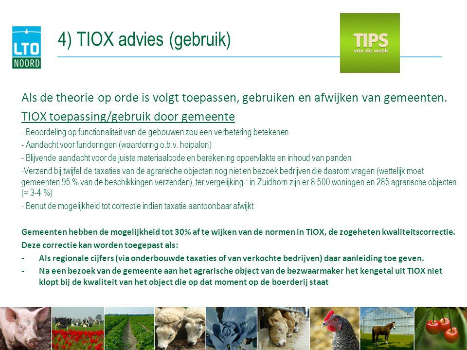 4) TIOX advies (gebruik)