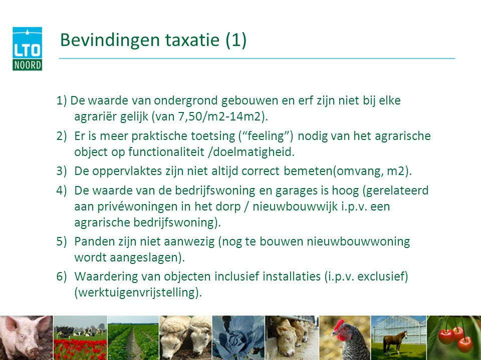 Bevindingen taxatie (1)