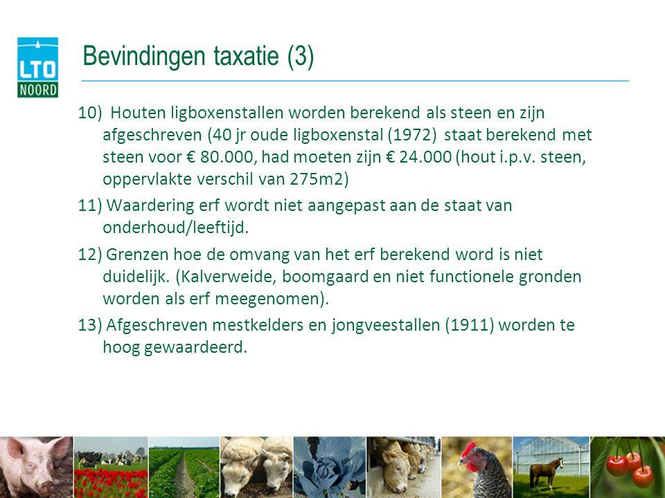 Bevindingen taxatie (3)