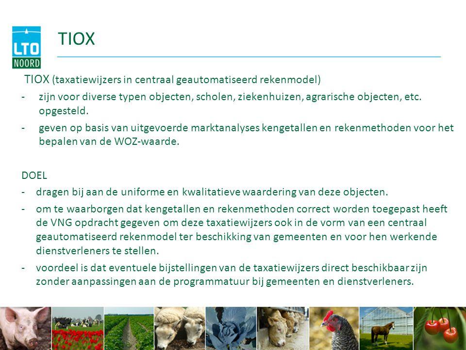 TIOX TIOX (taxatiewijzers in centraal geautomatiseerd rekenmodel)