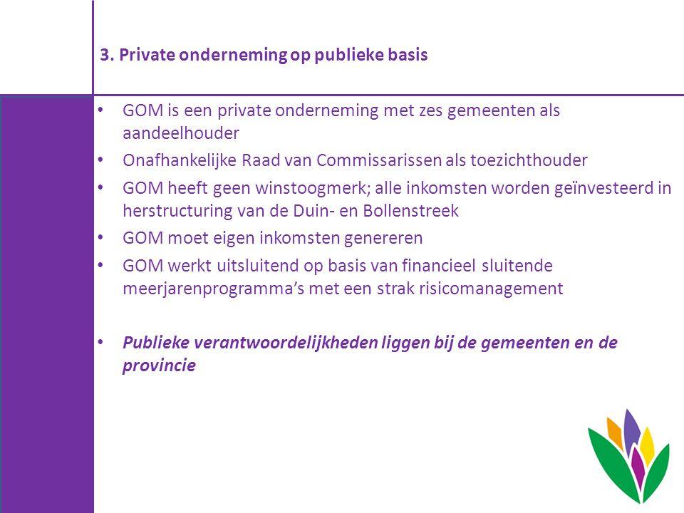 3. Private onderneming op publieke basis