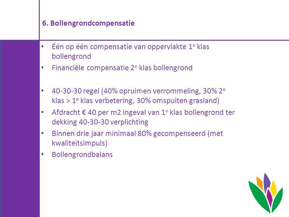 6. Bollengrondcompensatie