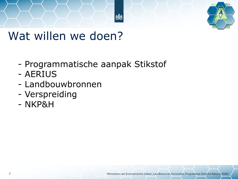 Wat willen we doen Programmatische aanpak Stikstof AERIUS