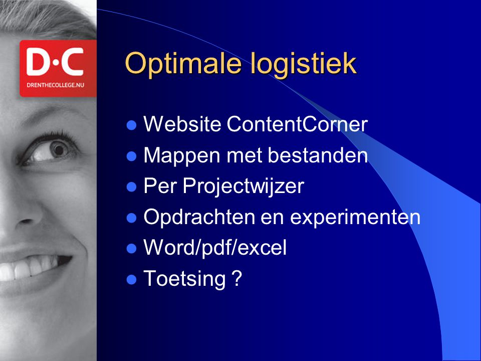 Optimale logistiek Website ContentCorner Mappen met bestanden