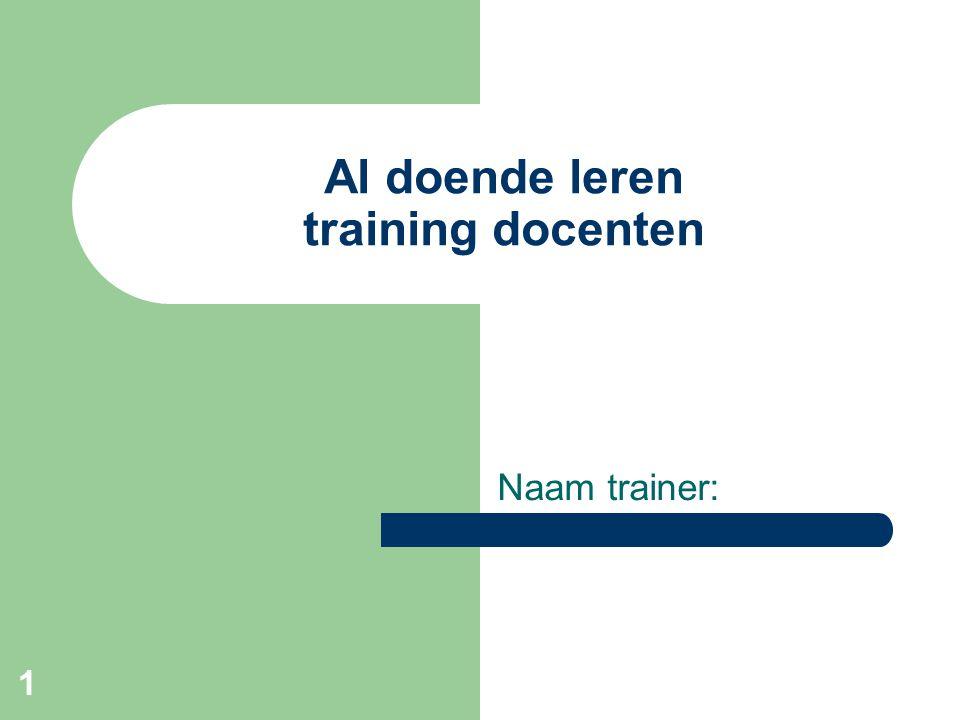 Al doende leren training docenten