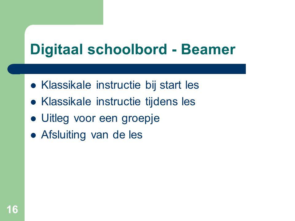 Digitaal schoolbord - Beamer