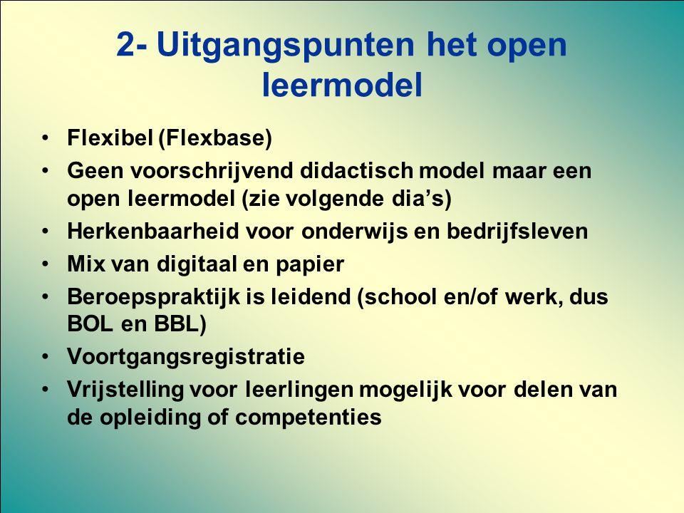 2- Uitgangspunten het open leermodel