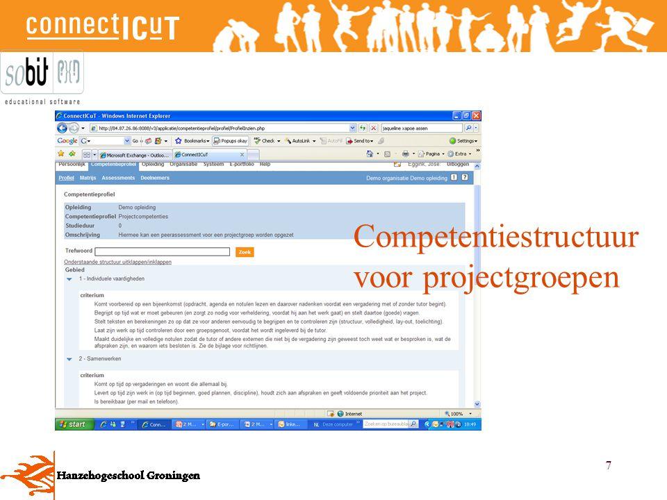 Competentiestructuur voor projectgroepen