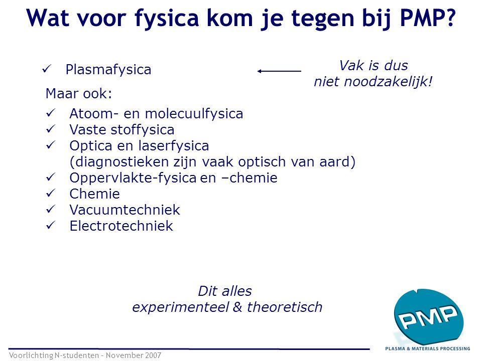 Wat voor fysica kom je tegen bij PMP