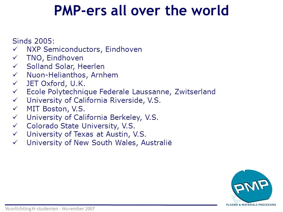 PMP-ers all over the world