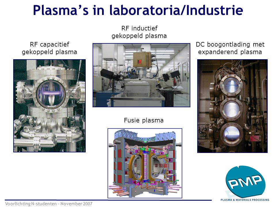 Plasma's in laboratoria/Industrie