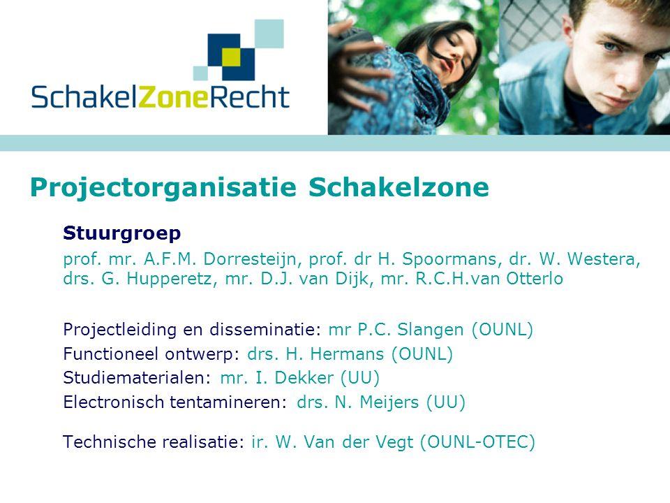 Projectorganisatie Schakelzone