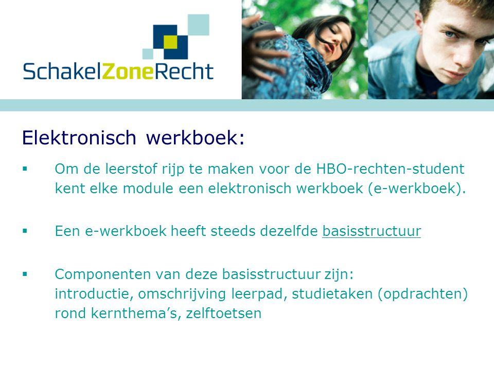 Elektronisch werkboek: