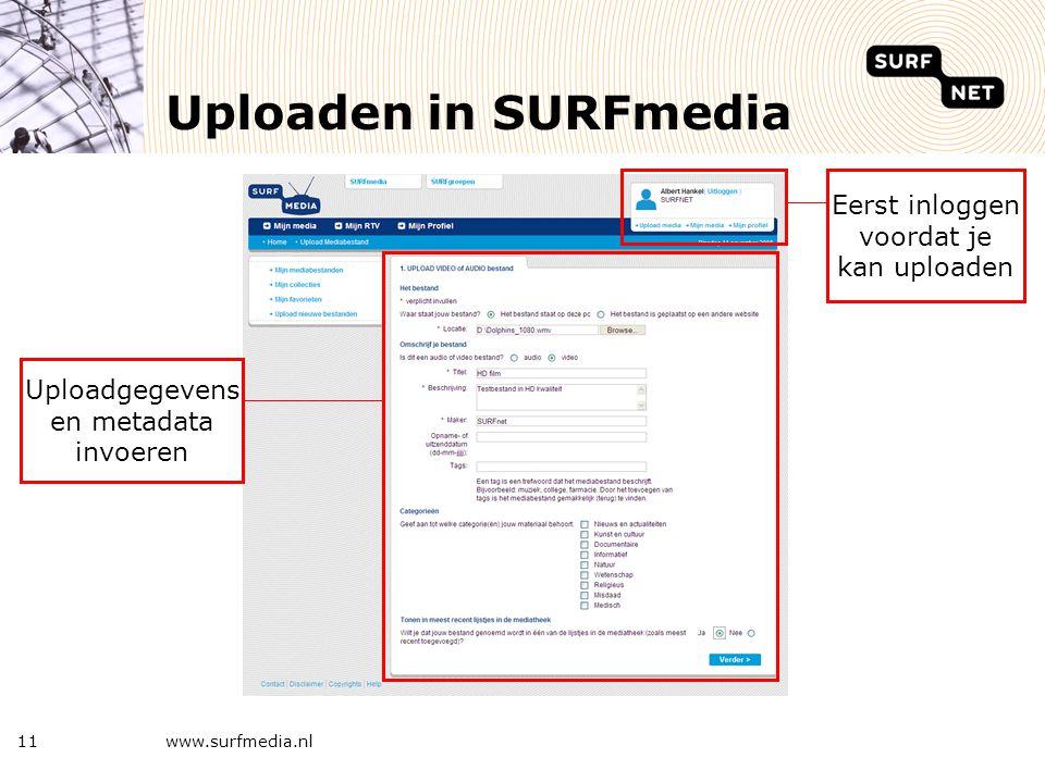 Rechten voor het bekijken www.surfmedia.nl