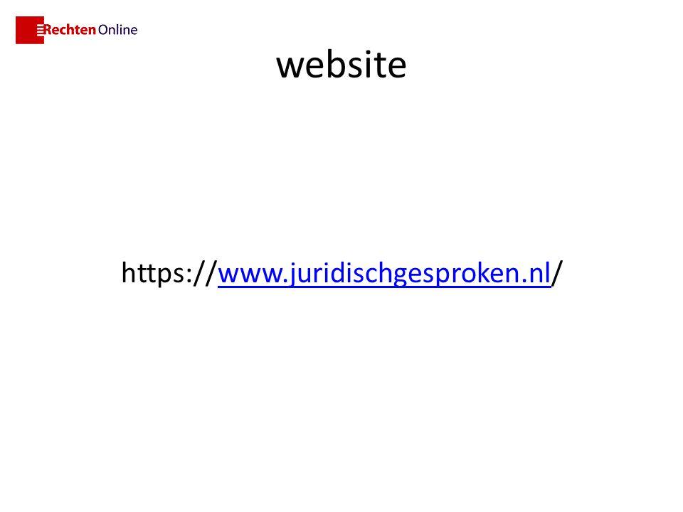 website https://www.juridischgesproken.nl/