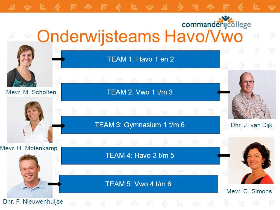 Onderwijsteams Havo/Vwo