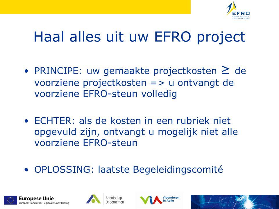 Haal alles uit uw EFRO project