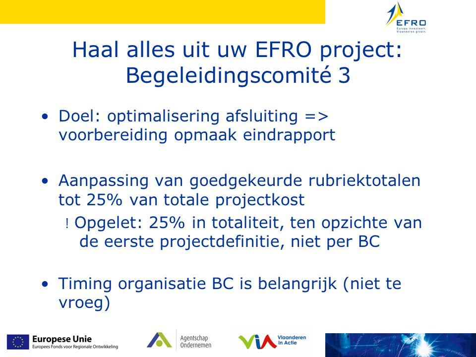 Haal alles uit uw EFRO project: Begeleidingscomité 3