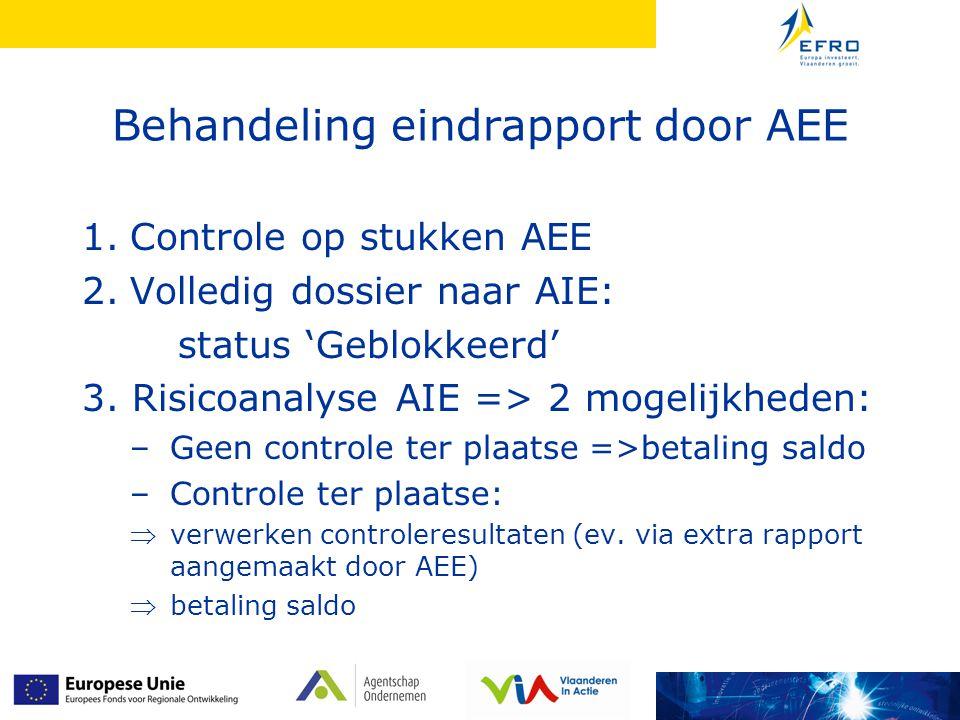 Behandeling eindrapport door AEE