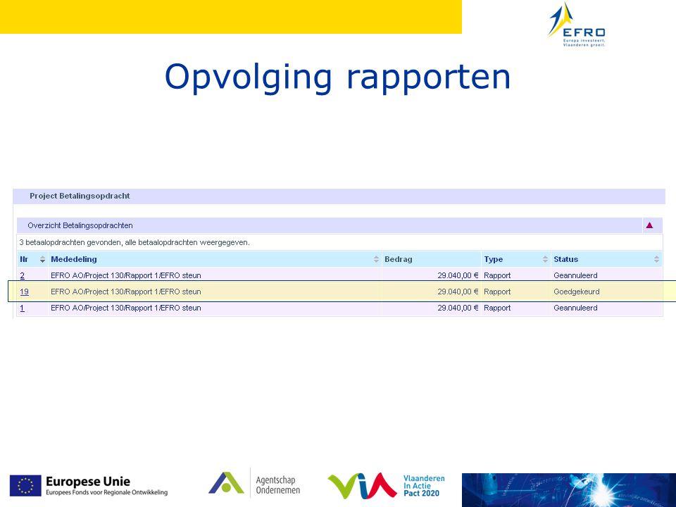 Opvolging rapporten