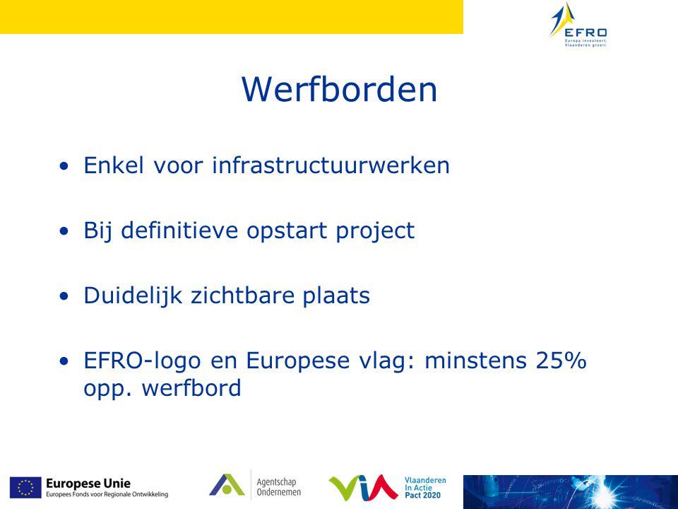Werfborden Enkel voor infrastructuurwerken