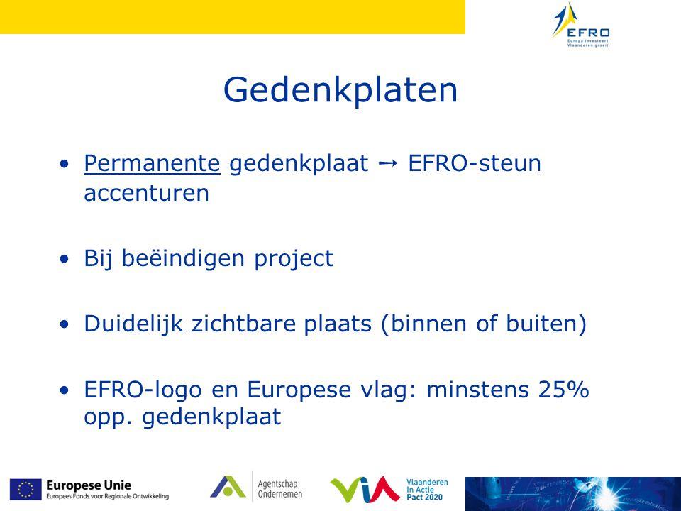 Gedenkplaten Permanente gedenkplaat ➙ EFRO-steun accenturen