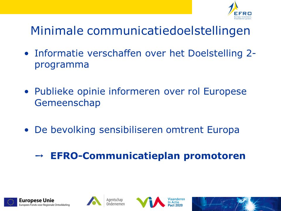 Minimale communicatiedoelstellingen