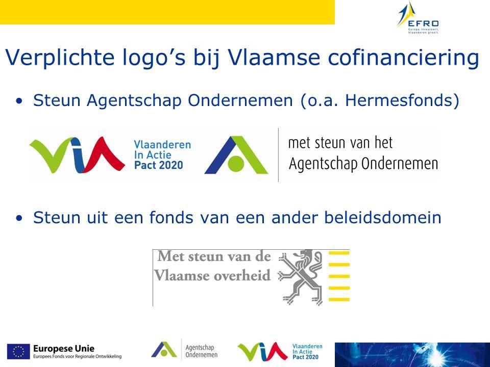 Verplichte logo's bij Vlaamse cofinanciering