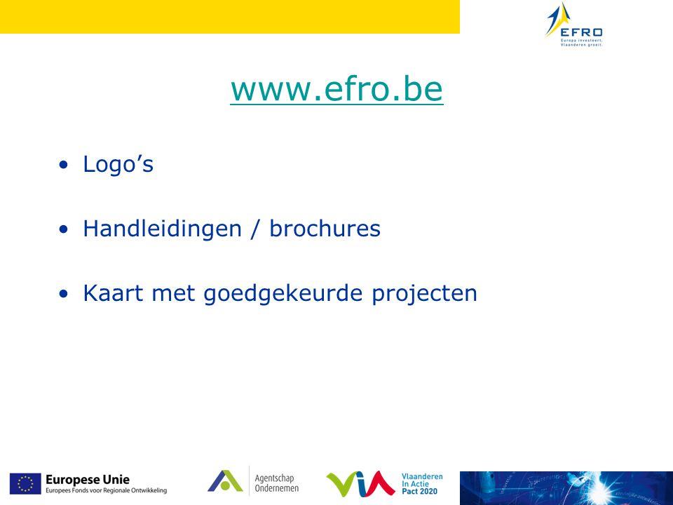 www.efro.be Logo's Handleidingen / brochures