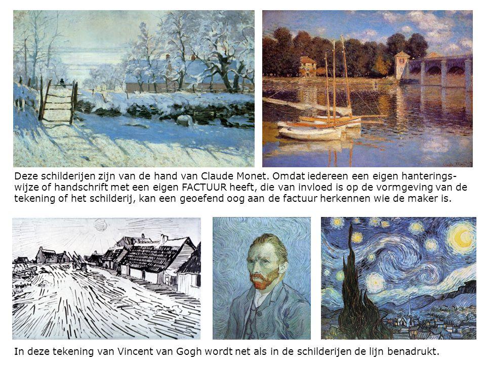 Deze schilderijen zijn van de hand van Claude Monet