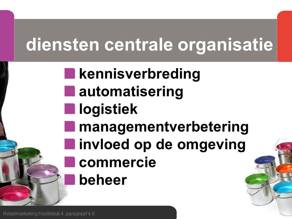 diensten centrale organisatie