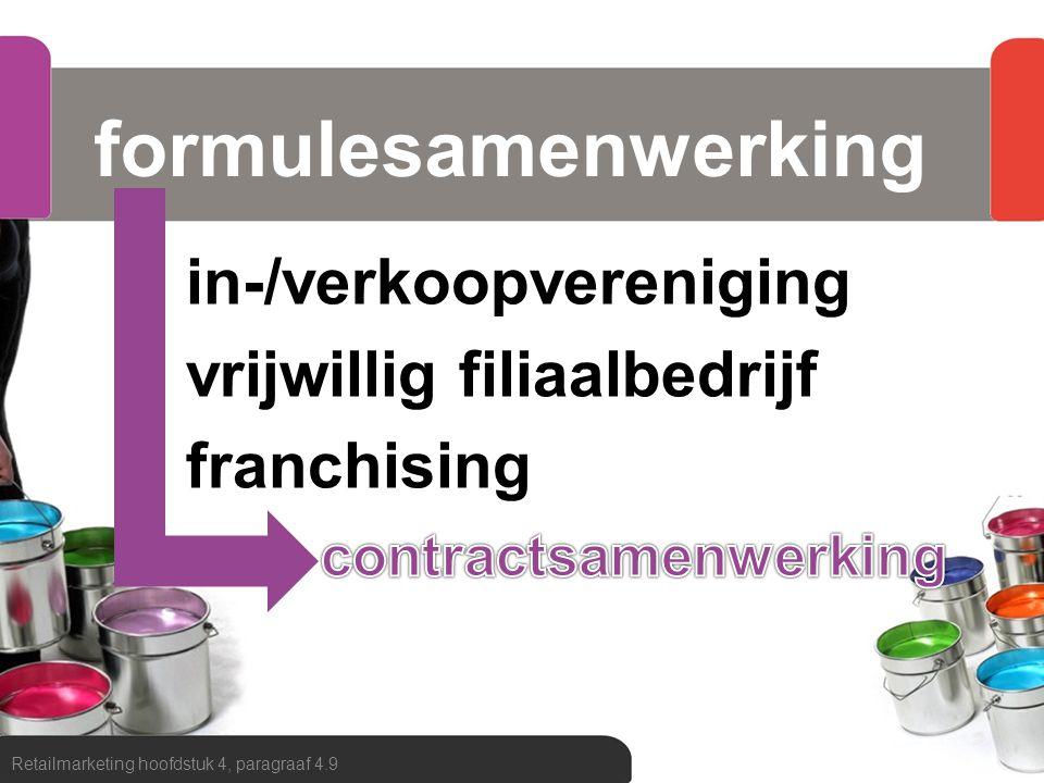 formulesamenwerking in-/verkoopvereniging vrijwillig filiaalbedrijf