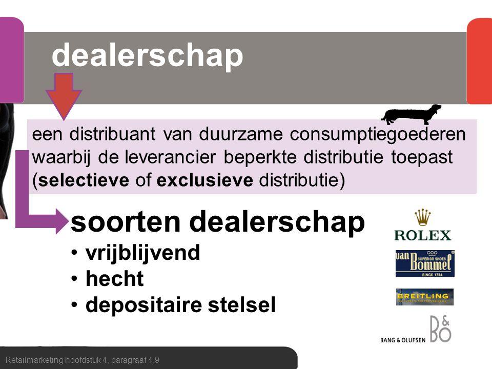 dealerschap soorten dealerschap vrijblijvend hecht depositaire stelsel