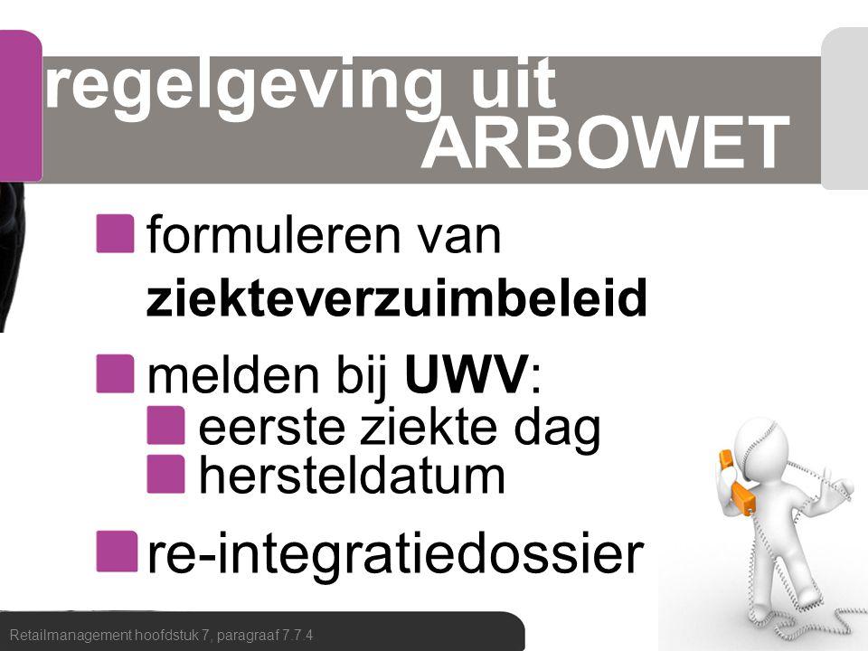 regelgeving uit ARBOWET