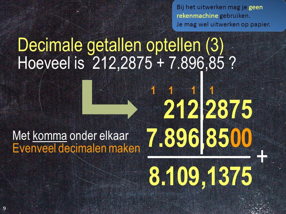 Decimale getallen optellen (3)