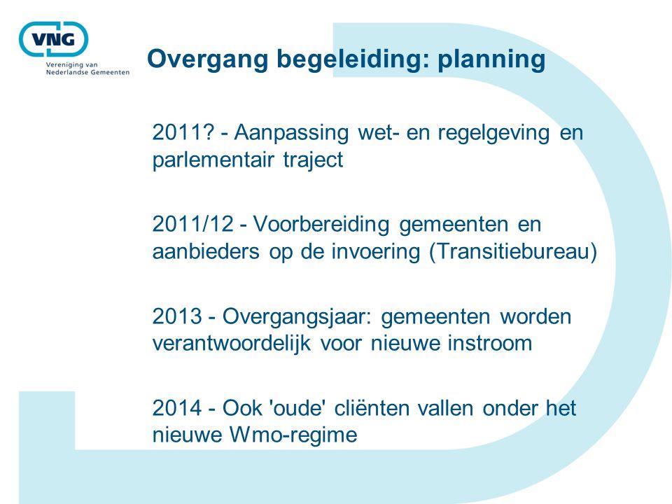 Overgang begeleiding: planning