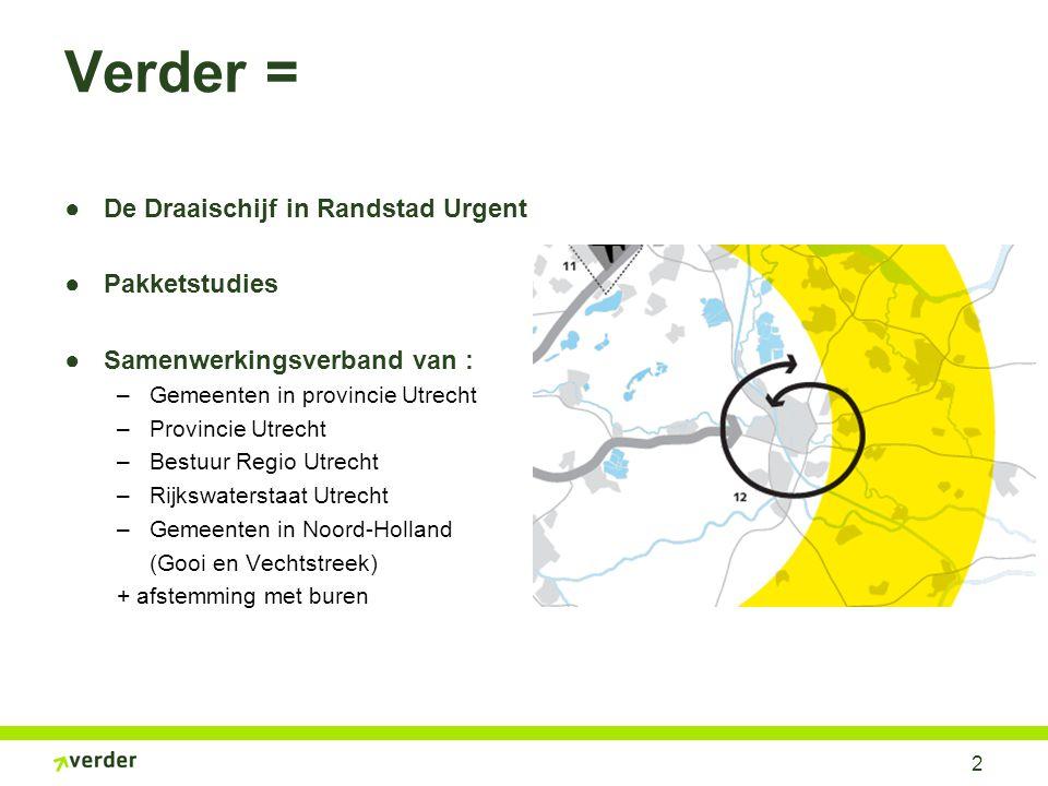 Aanleiding Verder Landelijke nota mobiliteit: regionale knelpunten Utrecht. Netwerkanalyse Utrecht (2005/2006)