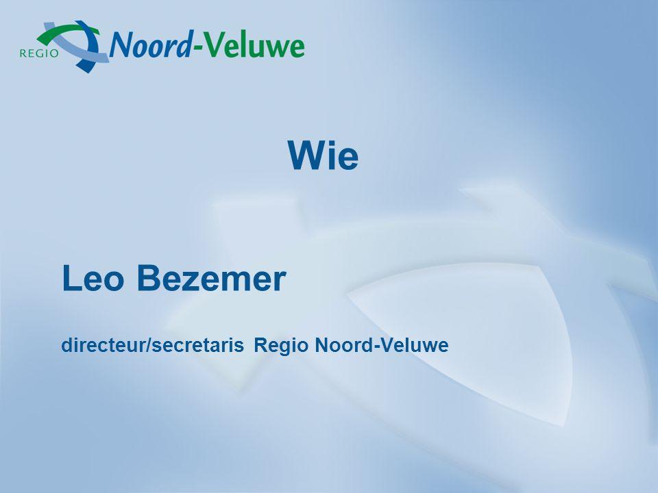 Leo Bezemer directeur/secretaris Regio Noord-Veluwe