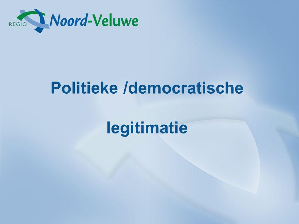 Politieke /democratische legitimatie