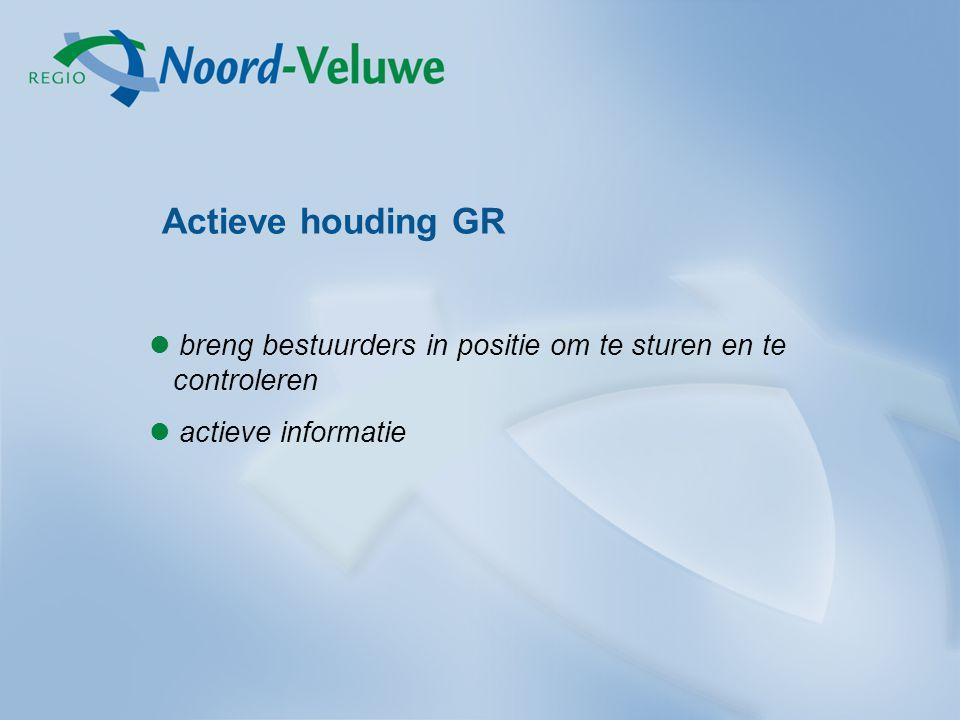 Actieve houding GR breng bestuurders in positie om te sturen en te controleren.