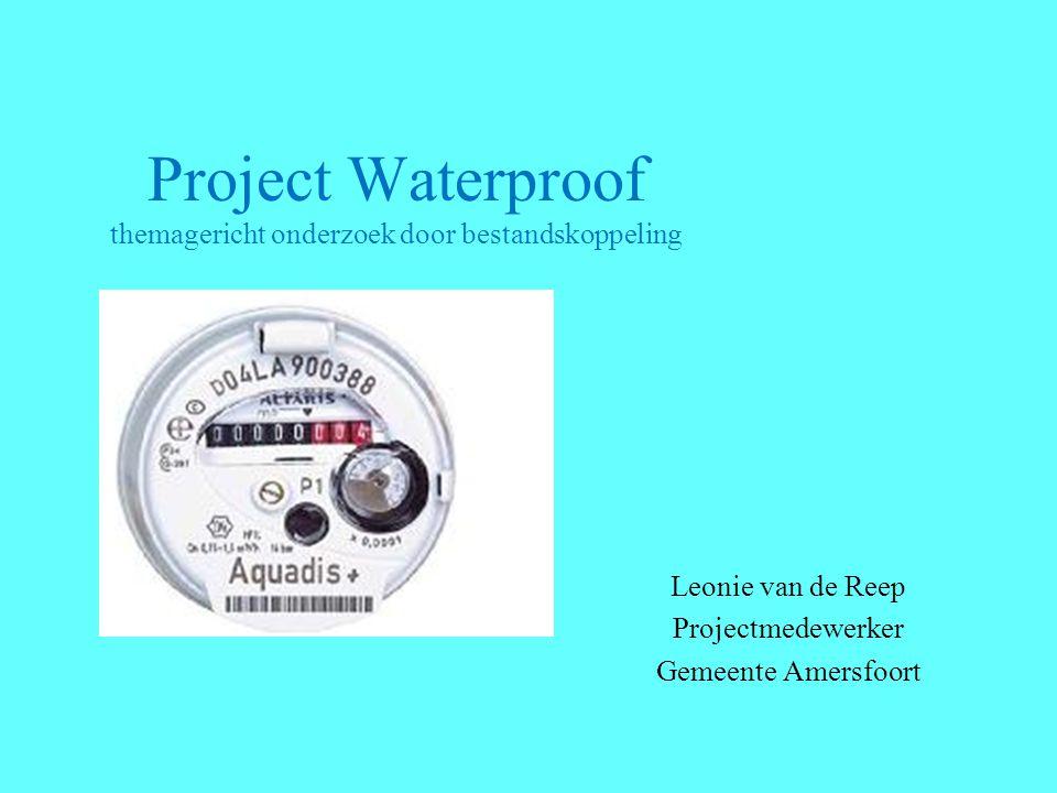 Project Waterproof themagericht onderzoek door bestandskoppeling