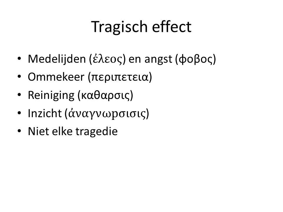 Tragisch effect Medelijden (ἐλεος) en angst (φοβος)