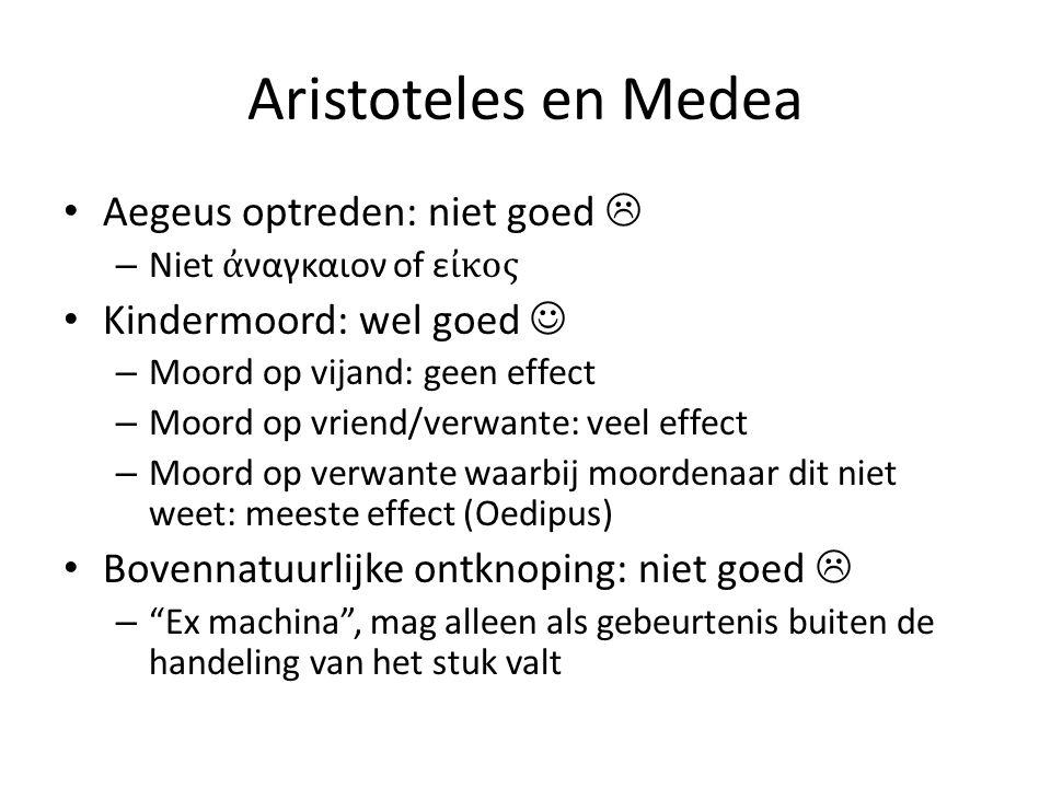 Aristoteles en Medea Aegeus optreden: niet goed 