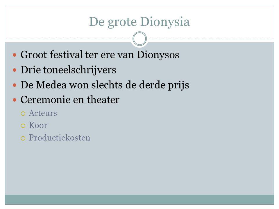 De grote Dionysia Groot festival ter ere van Dionysos